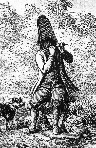 Détails des musiciens, gravures extraites de « L'Album Auvergnat » de Jean-Baptiste Bouillet (Riom et Mont-Dore).