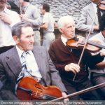 Deux des violoneux de la « dernières génération» : Léon Peyrat de St-Salvadour et Henri Lachaud, fils de Léonard Lachaud de Chaumeil. © photo CRMTL 2016.